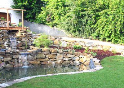 Garten mit Teich - Malecek Gartengestaltung