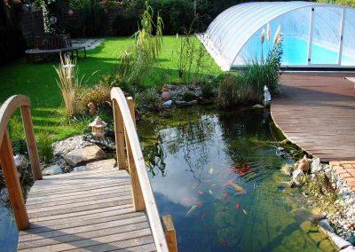 Biotop/Zierteich, Holzdeck - Gartengestaltung Malecek